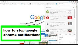 how to stop google chrome notifications