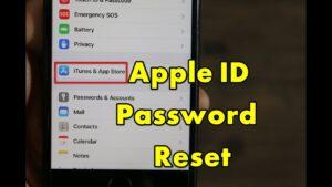 Apple Mail Password Reset