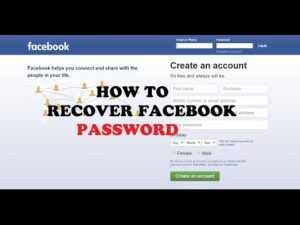 How to recover facebook paasword